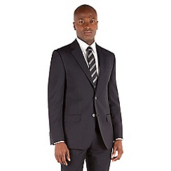 Stvdio by Jeff Banks - Navy narrow stripe 2 button front tailored fit suit jacket