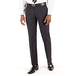 Stvdio by Jeff Banks - Navy narrow stripe flat front tailored fit suit trouser