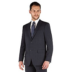 Jeff Banks - Blue check 2 button front regular fit travel suit