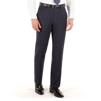 Jeff Banks Blue check plain front regular fit travel suit