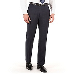 Jeff Banks - Blue check plain front regular fit travel suit trouser