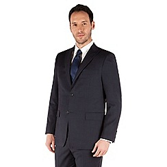 Jeff Banks - Blue check 2 button front regular fit luxury suit jacket