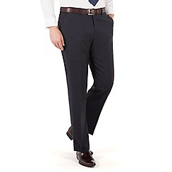 Jeff Banks - Blue check plain front regular fit luxury suit trouser