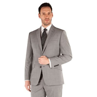 49dc82462 J by Jasper Conran Grey plain 2 button front tailored fit occasions suit  jacket