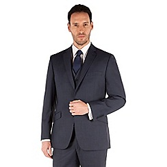 J by Jasper Conran - Blue plain 2 button front tailored fit occasions suit