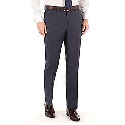 J by Jasper Conran - Blue plain flat front tailored fit occsions suit trouser