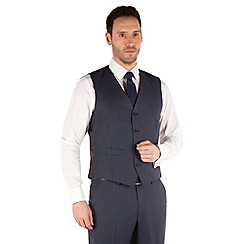 J by Jasper Conran - Blue plain 4 button front tailored fit occasions suit waistcoat