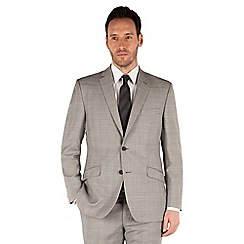 J by Jasper Conran - Grey check 2 button front tailored fit occasion suit