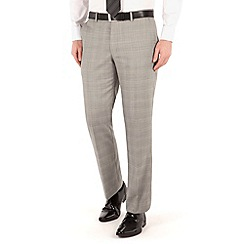 J by Jasper Conran - Grey check flat front tailored fit occasions suit trouser