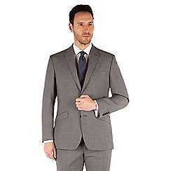 J by Jasper Conran - Grey puppytooth 2 button front tailored fit occasion suit jacket