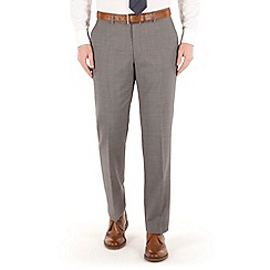 J by Jasper Conran - Grey puppytooth flat front tailored fit occasions suit trouser