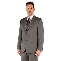 J by Jasper Conran - Charcoal pindot 2 button front tailored fit business suit jacket