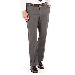 J by Jasper Conran - Charcoal pindot flat front tailored fit business suit trouser