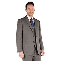J by Jasper Conran - Grey check 2 button front tailored fit business suit jacket