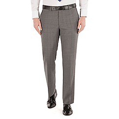 J by Jasper Conran - Grey check flat front business suit trouser