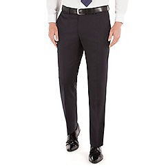 J by Jasper Conran - Blue pindot flat front tailored fit business suit trouser