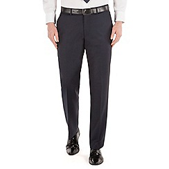J by Jasper Conran - Navy stripe flat front tailored fit business suit trouser