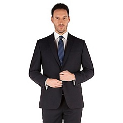 J by Jasper Conran - Navy textured 2 button front tailored fit luxury suit jacket