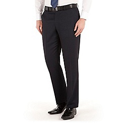 J by Jasper Conran - Navy textured flat front tailored fit luxury suit trouser