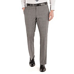 J by Jasper Conran - Grey heritage textured check tailored fit luxury suit trouser