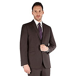 J by Jasper Conran - Brown mohair luxury 2 button front tailored fit luxury suit jacket