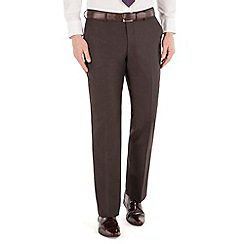 J by Jasper Conran - Brown mohair flat front tailored fit luxury suit trouser
