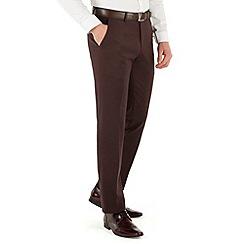 Red Herring - Deep plum twill slim fit trouser