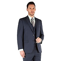 Racing Green - Blue pick and pick regualr fit 2 button suit jacket