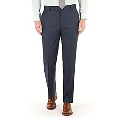 Racing Green - Blue pick and pick regular fit suit trouser
