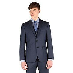 Racing Green - Blue pick and pick slim fit 2 button suit jacket
