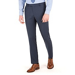 Racing Green - Blue pick and pick slim fit suit trouser