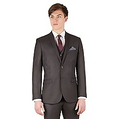 Red Herring - Charcoal twill 2 button slim fit suit jacket