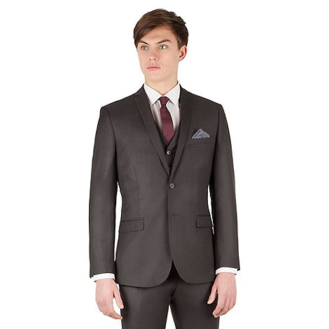 Red Herring - Charcoal twill 2 button slim fit suit