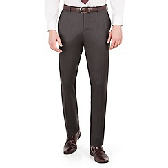 Red Herring - Charcoal twill slim fit suit trouser