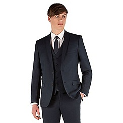 Red Herring - Navy twill 2 button slim fit suit jacket