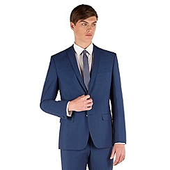 Red Herring - Bright blue micro 2 button slim fit suit jacket