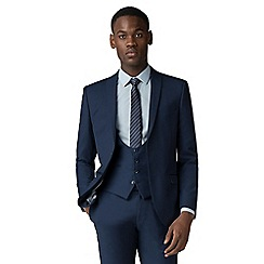 Red Herring - Sapphire blue twill slim fit 2 button suit