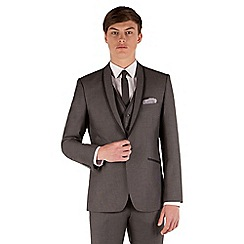 Red Herring - Mid grey pindot slim fit 1 button suit