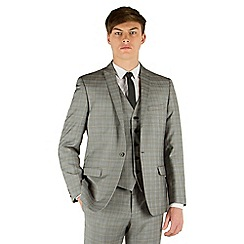 Red Herring - Grey heritage check slim fit 1 button suit