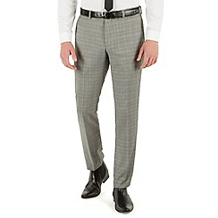 Red Herring - Grey heritage check slim fit trouser