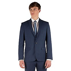 Red Herring - Blue tonal check slim fit 1 button suit