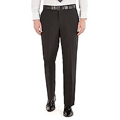 Karl Jackson - Plain black panama regular fit washable suit trouser
