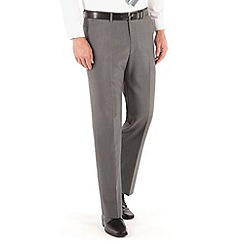 Karl Jackson - Mid grey panama washable regular fit trouser