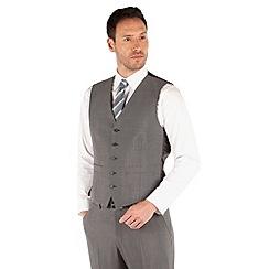 Karl Jackson - Mid grey panama 5 button waistcoat