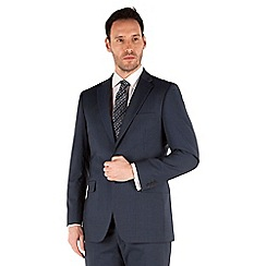 Karl Jackson - Navy stripe 2 button front regular fit washable suit jacket