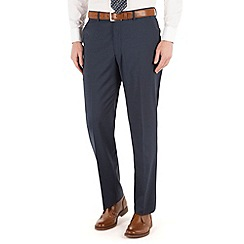Karl Jackson - Navy stripe 2 button front regular fit washable suit trouser
