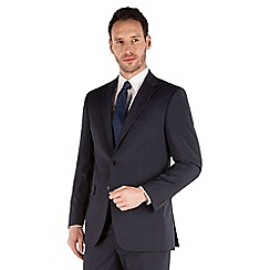 Karl Jackson - Navy tonal stripe 2 button front regular fit washable suit jacket
