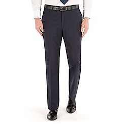 Karl Jackson - Navy tonal stripe regular fit washable suit trouser