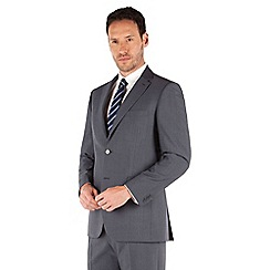 Karl Jackson - Petrol blue tonic 2 button front regular fit washable suit