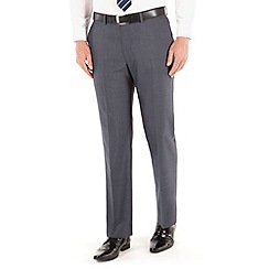 Karl Jackson - Petrol blue tonic regular fit washable suit trouser
